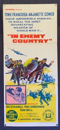 In Enemy Country Poster Original Daybill 1968 Guy Stockwell Anthony Franciosa
