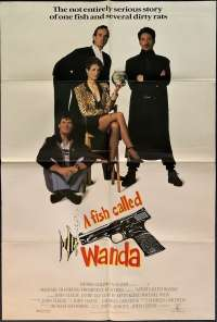 A Fish Called Wanda Poster Original USA One Sheet 1988 Rare Large Pistol Art