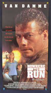 Nowhere To Run 1993 Daybill movie poster Jean-Claude Van Damme Rosanna Arquette