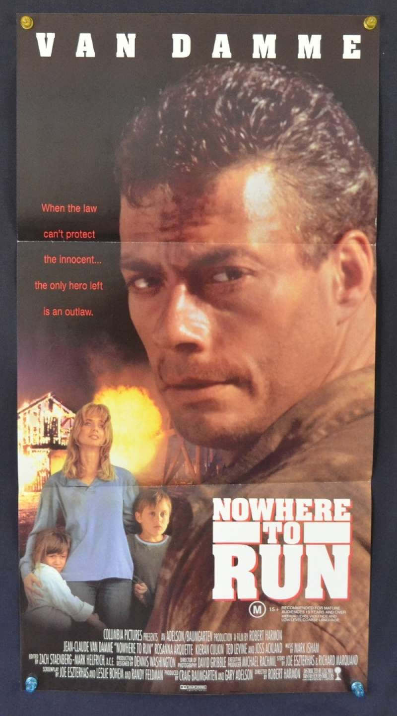All About Movies - Nowhere To Run 1993 poster RARE Daybill ...