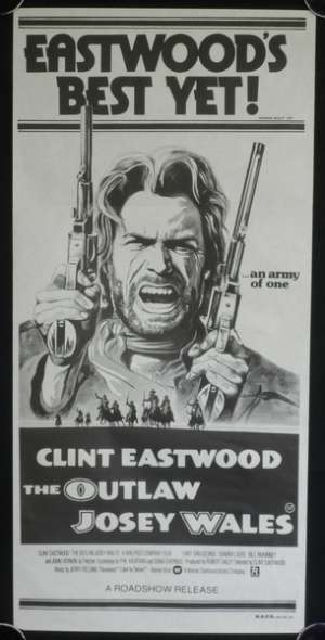Outlaw Josey Wales Poster Original 1980's RI Daybill Clint Eastwood