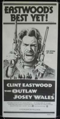 Outlaw Josey Wales Poster Clint Eastwood Vintage Daybill