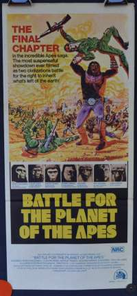 Battle For The Planet Of The Apes 1973 Poster Australian Daybill Movie poster