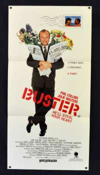 Buster 1988 Daybill movie poster Phil Collins Julie Walters