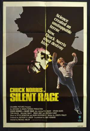 Silent Rage 1982 One Sheet Movie Poster USA Chuck Norris Brian Libby Martial Arts