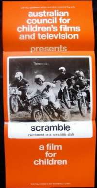 Scramble Movie Poster Original Daybill 1970 Biker Motorcycle