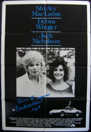 Terms Of Endearment 1983 Shirley Maclaine Jack Nicholson One Sheet movie poster