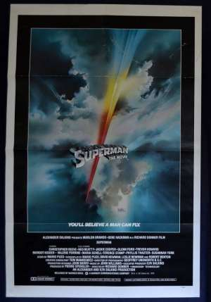 Superman Movie Poster Original One Sheet 1978 USA Advance ART Christopher Reeve