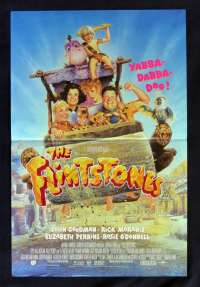 Flintstones 1994 Mini-Daybill movie poster Drew Struzan art John Goodman