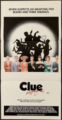 Clue 1985 Poster Tim Curry Australian Daybill Movie poster