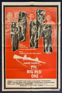 The Big Red One Poster Original One Sheet 1980 Lee Marvin Mark Hamill