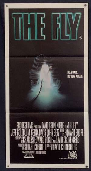 The Fly Movie Poster Original Daybill 1986 David Cronenberg Jeff Goldblum
