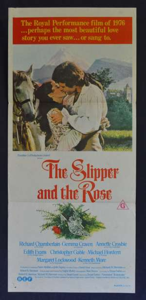 The Slipper And The Rose Movie Poster Original Daybill Richard Chamberlain