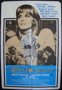 A Change Of Seasons Poster Original One Sheet 1980 Anthony Hopkins Sexy Bo Derek