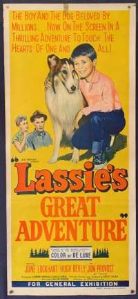 Lassie's Great Adventure Daybill Movie Poster Original 1963 June Lockhart