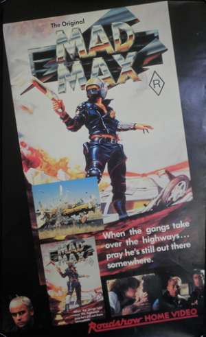 Mad Max Movie Poster Original Video Daybill Rolled Mel Gibson