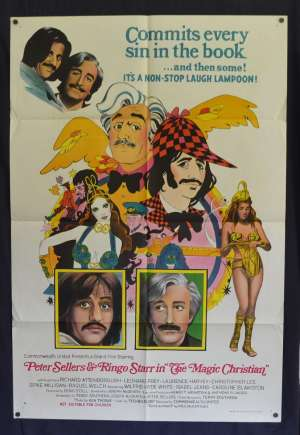 The Magic Christian Poster Original One Sheet 1969 Ringo Starr Peter Sellers Comedy