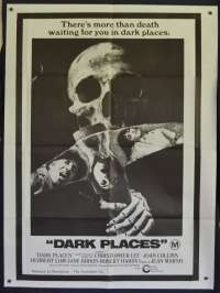 Dark Places Poster One Sheet Original 1973 Christopher Lee Horror Rare
