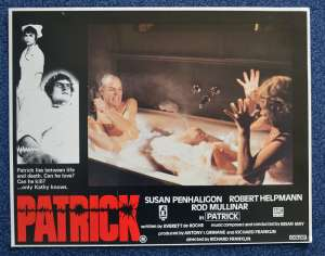 Patrick 1978 Lobby Card No.1 Rare Ozploitation Robert Helpmann