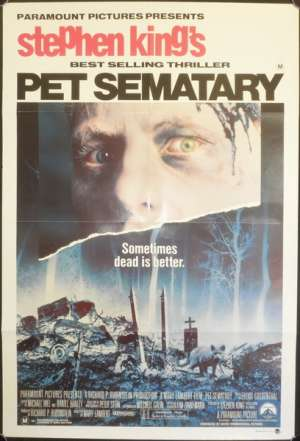 Pet Sematary One Sheet movie poster Dale Midkiff Fred Gwynne