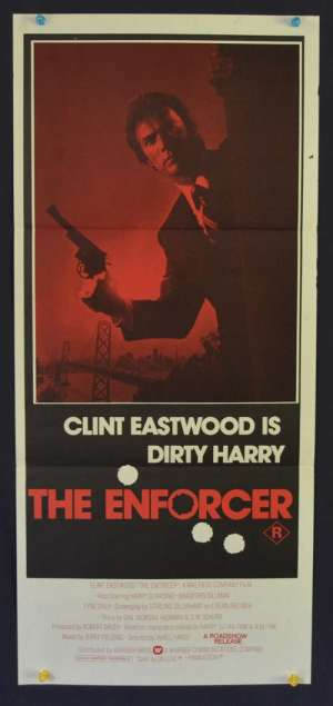 The Enforcer Poster Original Daybill 1976 Clint Eastwood Dirty Harry Red Art
