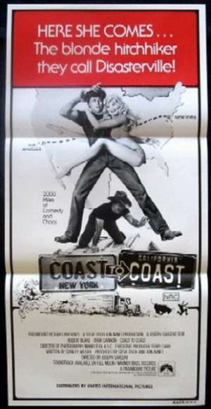 Coast To Coast 1980 Daybill Movie poster Dyan Cannon duo tone