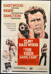 The Eiger Sanction 1975 One Sheet Poster Clint Eastwood George Kennedy