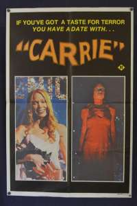 Carrie 1976 movie poster Sissy Spacek Piper Laurie Stephen King