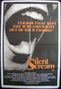 Silent Scream 1980 One Sheet movie poster Horror Barbara Steele