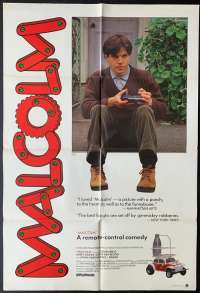 Malcolm Movie Poster Original One Sheet 1986 Colin Friels John Hargreaves Nadia Tass