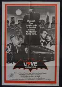 Love At First Bite 1979 One Sheet movie poster George Hamilton Bram Stoker Dracula