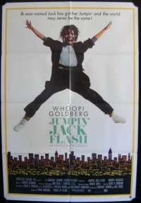 Jumpin' Jack Flash 1986 movie poster Whoopi Goldberg One Sheet