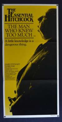 The Man Who Knew Too Much Poster Original Daybill RI 1983 James Stewart