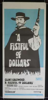 A Fistful Of Dollars Daybill Poster Original 1967 Clint Eastwood Sergio Leone Style B