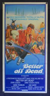 Better Off Dead 1985 Rare Daybill movie poster Drew Struzan art John Cusack