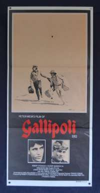 Gallipoli Movie Poster Original Australian Daybill 1981 Mel Gibson
