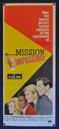 Mission Impossible Poster Original Daybill 1968 Peter Graves Martin Landau