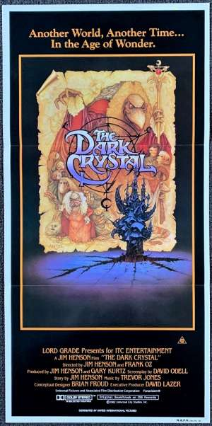 The Dark Crystal 1982 Daybill movie poster Jim Henson Frank Oz