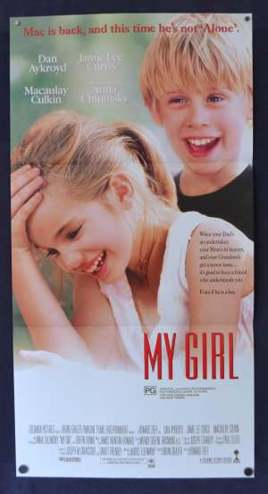 My Girl Poster Original Daybill 1991 Dan Aykroyd Jamie Lee Curtis Macaulay Culkin