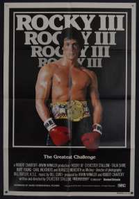 Rocky 3 Poster One Sheet Original 1982 Sylvester Stallone Fighting