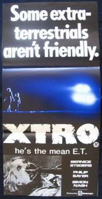 Xtro 1982 Daybill Movie poster Bernice Stegers Phillip Sayer Horror Abduction