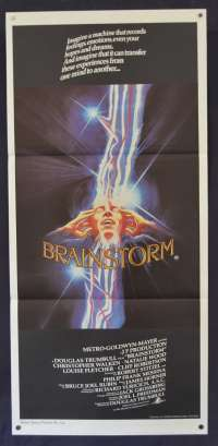 Brainstorm Movie Poster Original Daybill 1983 Natalie Wood Christopher Walken