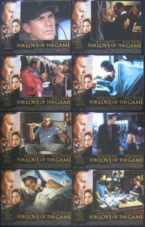 For Love Of The Game  Lobby Card Set