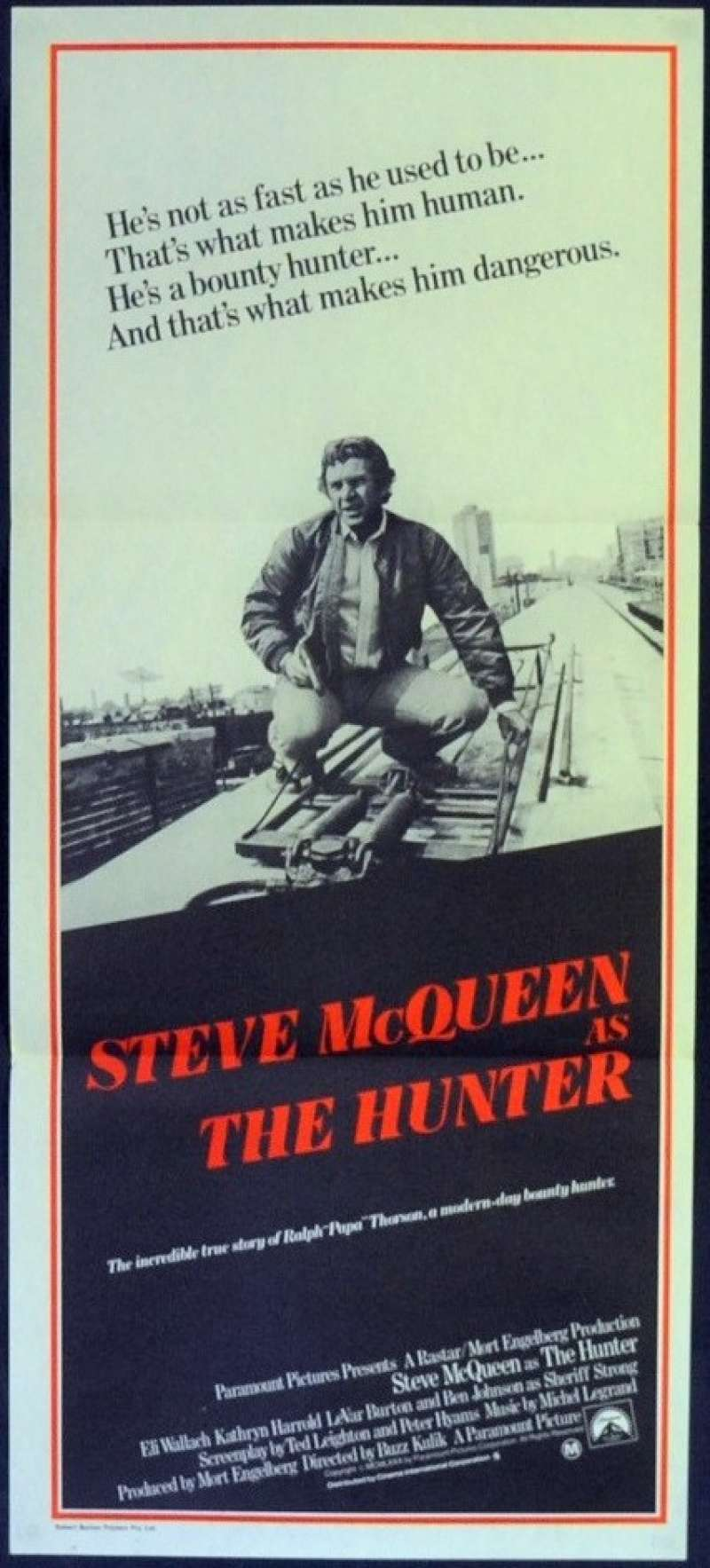 The Hunter Steve Mcqueen Movie Poster Insert 14x36 Replica