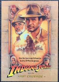 Indiana Jones And The Last Crusade 1989 Advance Flyer Harrison Ford Drew Struzan art