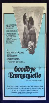 Goodbye Emmanuelle 1977 Daybill Movie Poster Sylvia Kristel Sexploitation