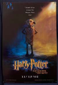 Harry Potter And The Chamber Of Secrets Poster Original USA 1 Sheet Dobby Art