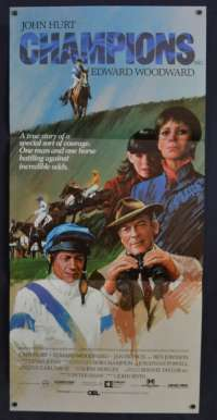 Champions 1984 Daybill movie poster John Hurt Horse Racing Grand National