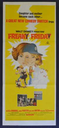 Freaky Friday Jodie Foster Australian Daybill movie poster