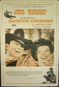Rooster Cogburn Movie Poster Original One Sheet 1975 John Wayne Katherine Hepburn